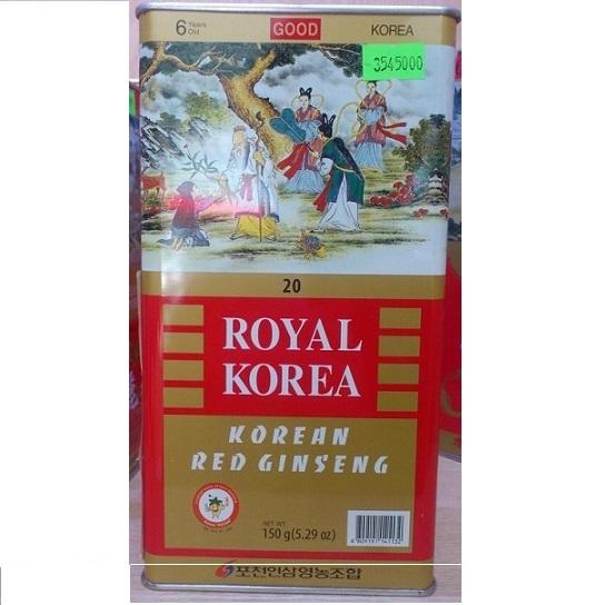 Hồng sâm củ khô Royal Ginseng Pocheon 150gr- 6 củ