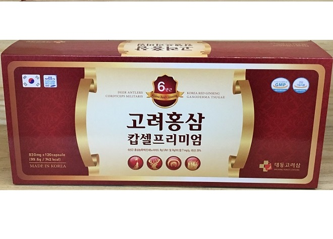 Viên hồng sâm cao cấp Daedong - Korea Red Ginseng Capsule Premium