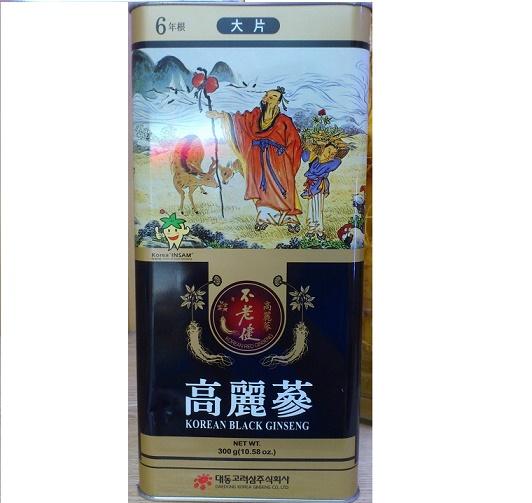 Hắc sâm củ khô Daedong 300gr - Korean Black Ginseng