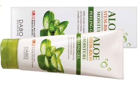 Sữa dưỡng ẩm tẩy da chết lô hội Dabo - Dabo Aloe stem-rich moisture Peeling Gel
