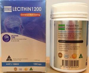 TINH CHẤT MẦM ĐẬU NÀNH COSTAR ÚC - LECITHIN 12000 MG HỘP 120 VIÊN