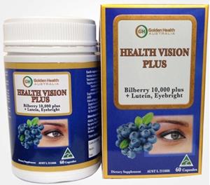 THUỐC BỔ MẮT CỦA ÚC - GOLDEN HEALTH HEALTH VISION PLUS BILBERRY