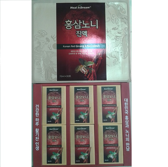 Nước Sâm trái nhầu Hàn Quốc - korea red ginseng noni extract