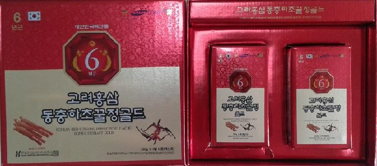 Hồng sâm đông trùng hạ thảo hàn quốc- korea red ginseng dongchunghacho hony extract gold