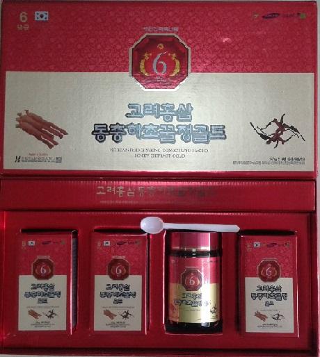 Hồng sâm đông trùng hạ thảo hàn quốc 4 lọ- korea red ginseng dongchunghacho hony extract gold