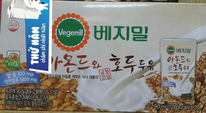 Sữa quả óc chó đậu nành hạnh nhân Vegemil