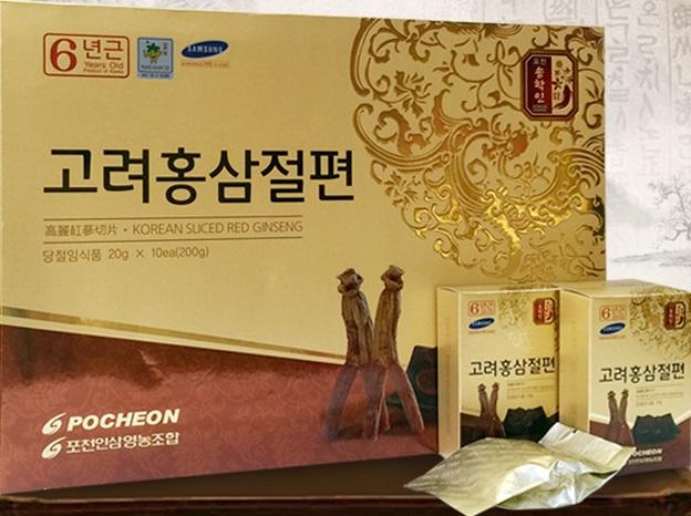 Hồng sâm lát mật ong Pocheon -korea sliced red ginseng