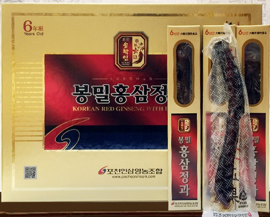 Hồng sâm củ mật ong Pocheon -korea red ginseng with honey