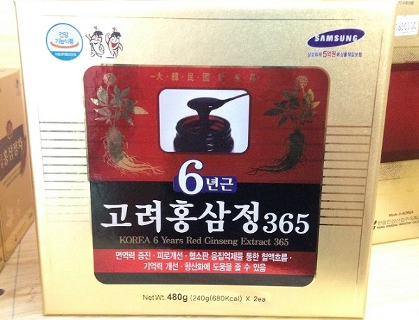 Cao hồng sâm Daehan 240 g* 2 lọ - Korean 6 years red ginseng extract 365