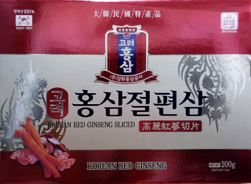 Hồng sâm lát tẩm mật ong- Daehan Red Ginseng