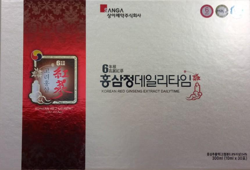 CAO HỒNG SÂM NƯỚC DẠNG GÓI Korea red ginseng extract dailytime