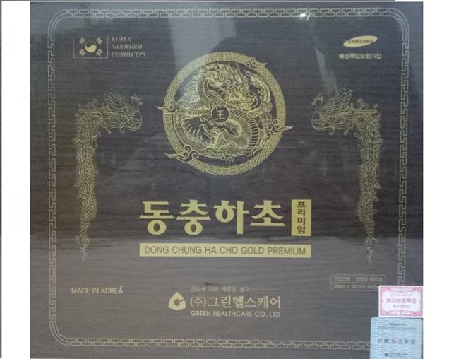 Nước Đông trùng hạ thảo hộp gỗ đen GREEN HEALTHCARE -Dong chung Ha Cho - Gold