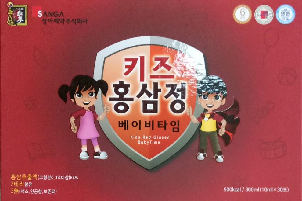 Hồng sâm cho trẻ em Sang A- Kids red ginsen baby time