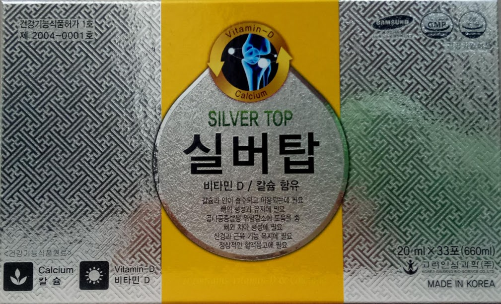 Nước Calcium silver top koreared ginseng bio science