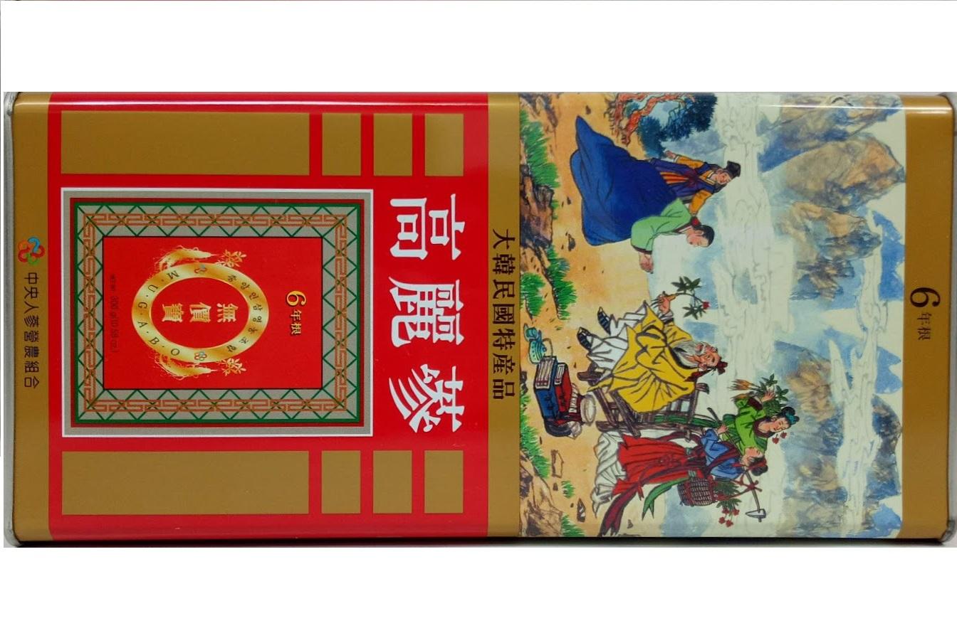 HỒNG SÂM CỦ KHÔ JOONGANG ginseng 300GR-18 CỦ