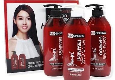 Bộ 2 dầu gội 1 dầu xả tinh chất nhân sâm đỏ - 3W CLINIC Red Ginseng Shampoo